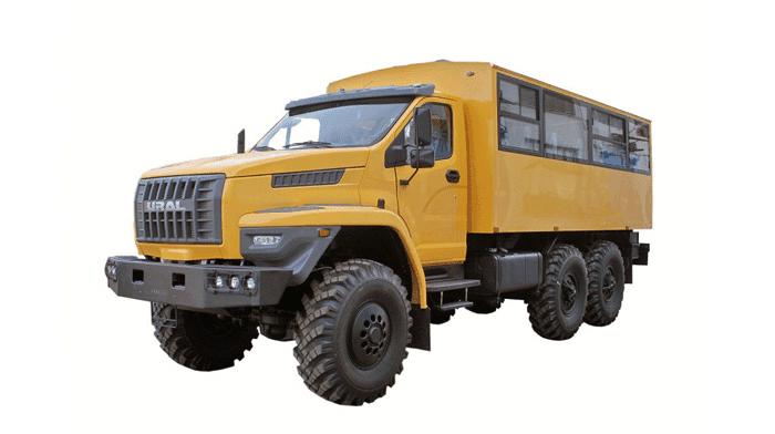 вахтовый автобус «Урал-Next» на базе 240-сильного двигателя ямз-536